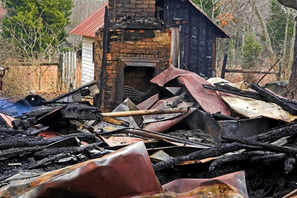 Fire damage causing home to be burned down
