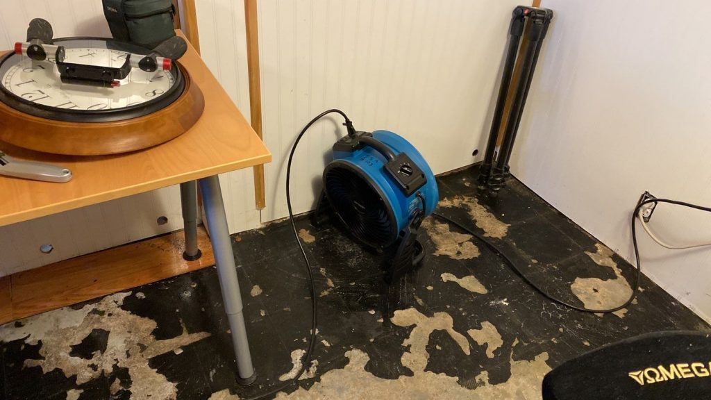 Using drying equipment to remove water after a significant rain and storm damage